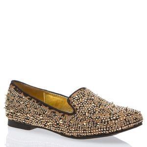 Spiked Leopard Flats.